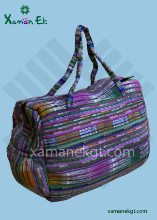 Guatemalan Huipil Duffel bag handmade in Guatemala by xaman ek