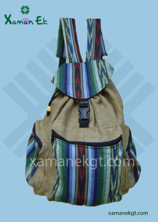 Guatemalan Jute Backpacks wholesale and worldwide shipping by xaman ek
