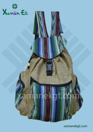 Guatemalan Jute Backpacks wholesale and worldwide shipping by xaman ek