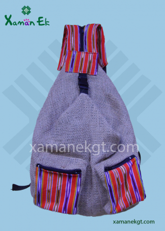 Guatemalan Jute Backpack Wholesale & worldwide Shipping by xaman ek
