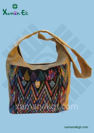 Jute shoulder bag wholesale, handmade in Guatemala by xaman ek