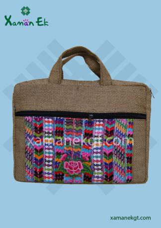 Mayan Jute Laptop Case handmade in Guatemala