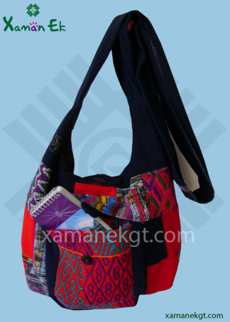 Mayan shoulder bag patchwork design