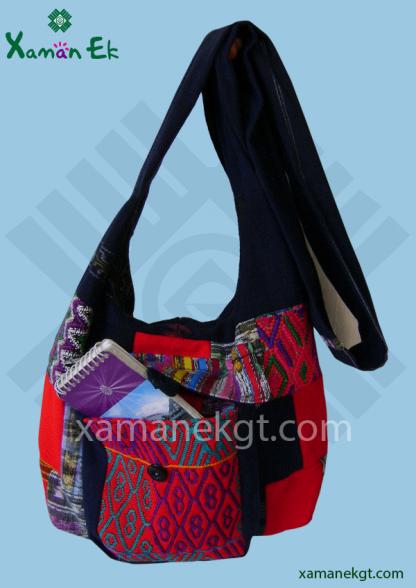 Mayan shoulder bag patchwork design