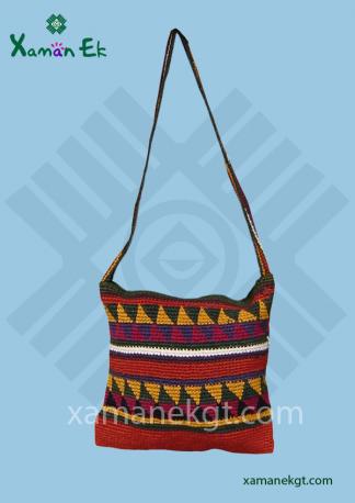Mayan shoulder bag crochet design by Xaman Ek