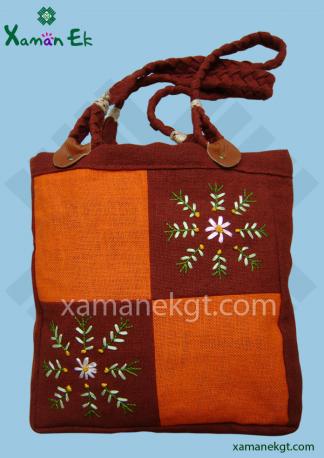 Mayan tote bag handmade in Guatemala by xaman ek