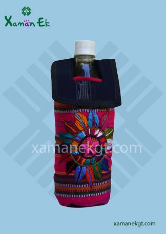 Mayan water bottle carrier handmade in Guatemala by xaman ek