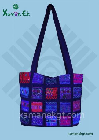 guatemalan tote bags patchwork design handmade in Guatemala, wholesale