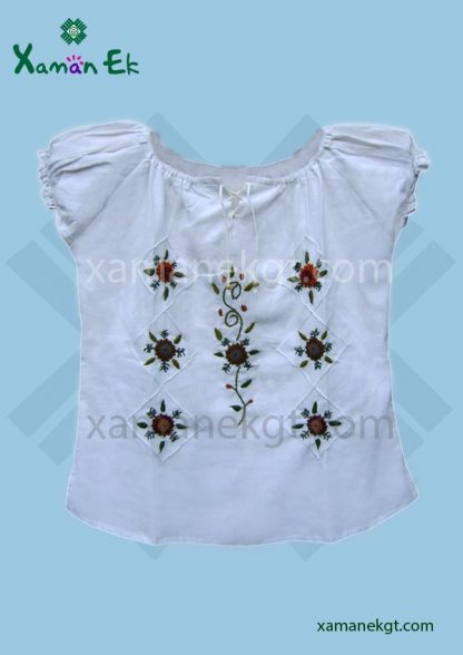 Guatemalan blouse handmade by mayan artisans from Xaman Ek