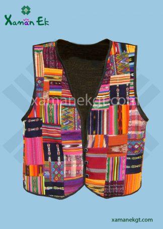 Guatemalan Vest Patchwork design by Xaman Ek
