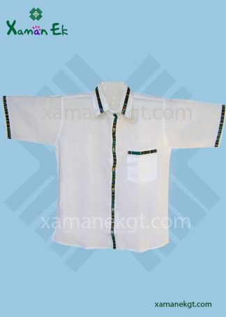 Guatemalan Shirt White color, handmade by Xaman Ek