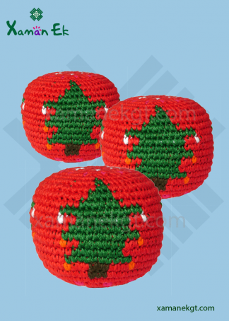 mayan hacky sacks christmas ornaments