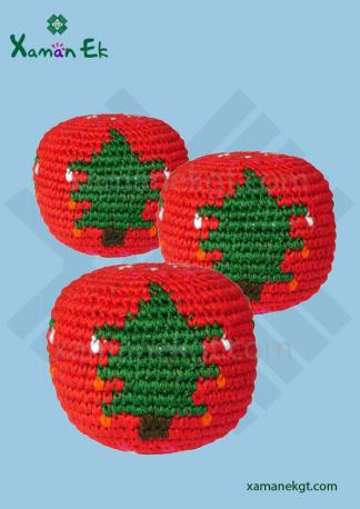 mayan hacky sacks christmas ornaments