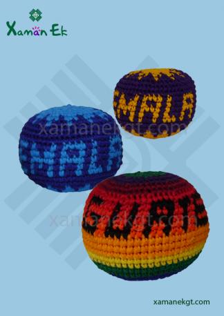 guatemalan crochet balls or hacky sacks & foot bags