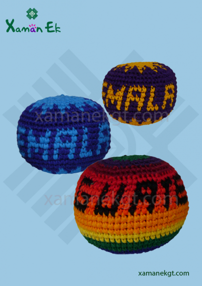 guatemalan crochet balls or hacky sacks & foot bags