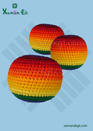 guatemalan rainbow hacky sacks by xaman ek