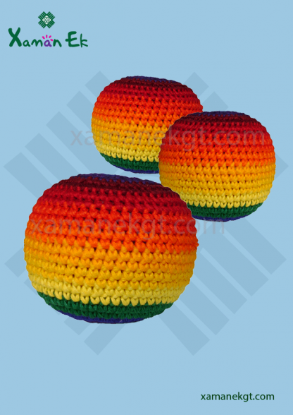 guatemalan rainbow hacky sacks by xaman ek
