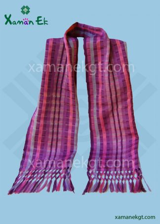 Multicolor Cotton Scarf handmade in Guatemala