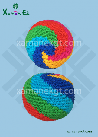 guatemalan hacky sacks spiral design by xaman ek