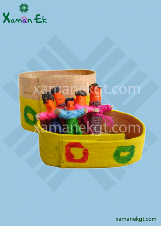 6 mini worry dolls in a yellow box by xaman ek