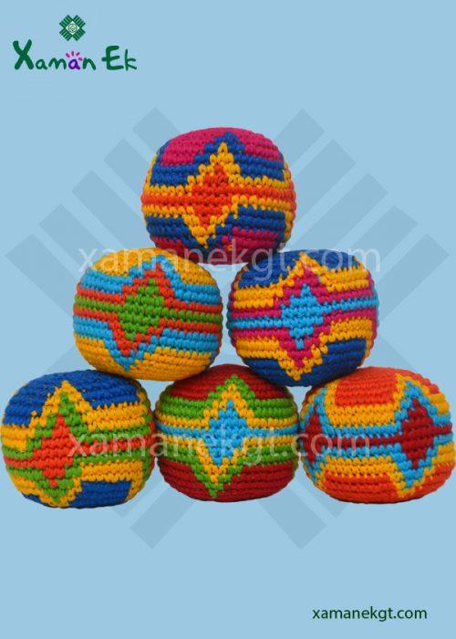 Guatemalan Hacky sacks or Foot bags handmade by mayan artisans