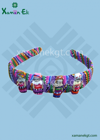 Diadem Worry Doll Handmade in Guatemala by real mayan artisans, no child labor, cruelty free, ethical, conscious, fair trade.