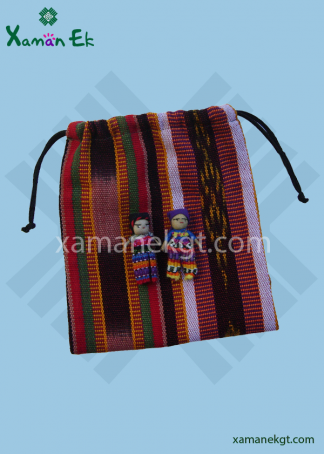 Worry doll pouch large handmade in Guatemala