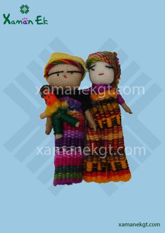 Guatemalan Worry Dolls magnetic handmade by mayan artisans