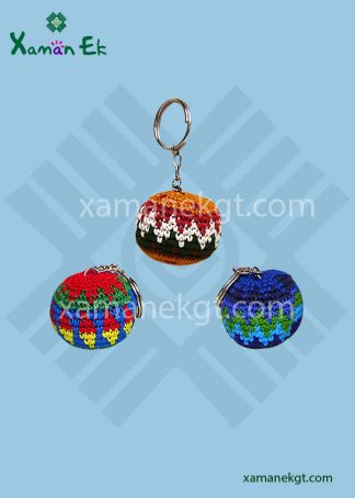 Crochet small ball key chain by xaman ek