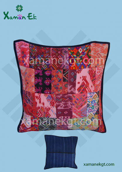 Guatemalan Pillow case Patchwork design