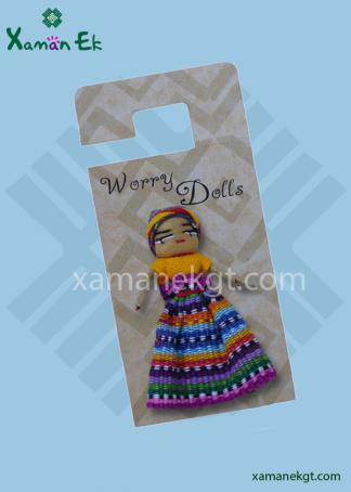 Worry Doll Girl handmade in Guatemala
