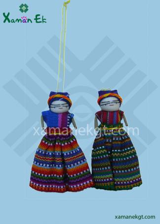 Hanging Worry Doll handmade in Guatemala
