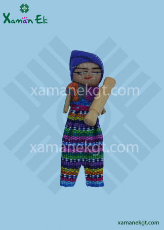 Worry doll boy handmade in Guatemala by mayan artisans