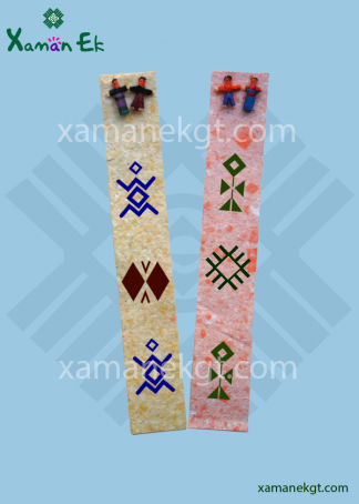 Mayan Worry Doll Bookmark Recycled paper handmade in Guatemala