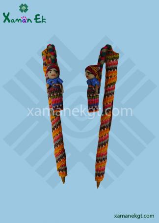 Worry doll pen handmade in Guatemala by mayan artisans