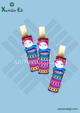Peg Worry Dolls handmade in Guatemala