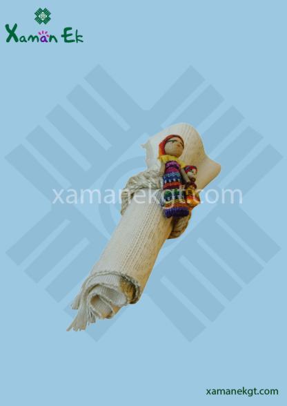 Napkin Rings Worry Doll handmade in Guatemala
