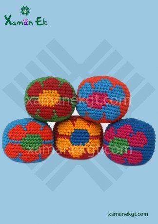 Guatemalan Flower Hacky Sack wholesale handmade in guatemala