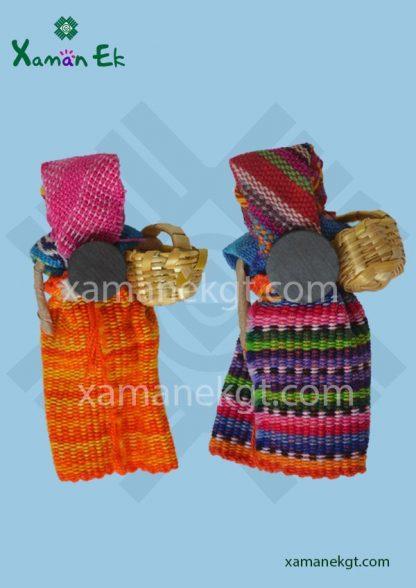 Worry dolls magnets handmade in guatemala by Xaman Ek