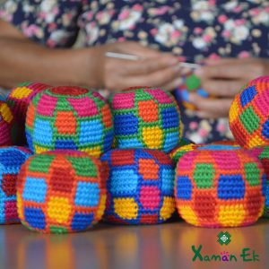 fair trade hacky sacks by xaman ek