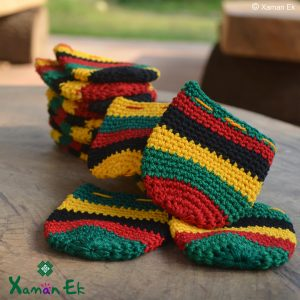 Rasta pouches handmade in guatemala by xaman ek