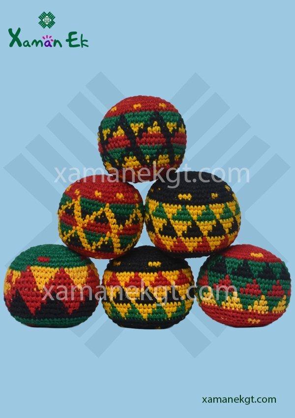 Guatemalan Rasta Crochet Hacky Sack Xaman Ek
